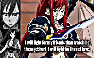Erza Fight for Them. by Xela-scarlet