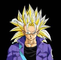 Trunks ssj3 on Dragon Ball AF by ExtremeNick