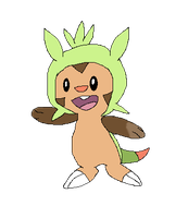 Chespin by Fluffy-Bearr