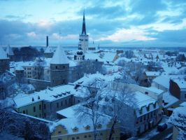 Over the roofs of Tallinn by Sponnnge