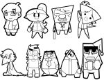 Character Designs Using Shapes by RoxasKuroishi