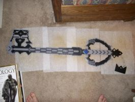 Kingdom Hearts Oblivion Keyblade Perler by bahamut6666