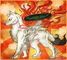 Okami Amaterasu by Dragon-Queen01456