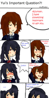 Yui's Important Question by imuffinator