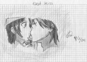 first kiss by darkangle911