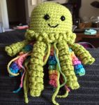 Green octopus/jellyfish monster by Rambleicious