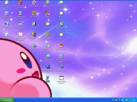 kirby wallpaper screnshot by Doggy-woogy