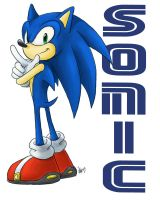 another SONIC drawing by nocturnalMoTH
