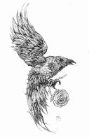 CROW TATTOO 1 by defected-angel