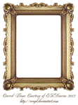 Carved Gold Frame by EKDuncan by EveyD