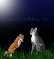Fox and Wolf by Lucy-Redgrave