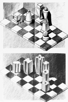 Basic Shapes Chess Pieces by sii-kei