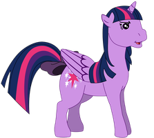 My first Twilight Sparkle vector, G1 version. by Flutterflyraptor