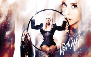 lady gaga wallpaper by Miss-Chili