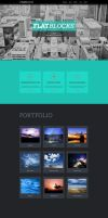 Flatblocks - One Page Muse theme by styleWish