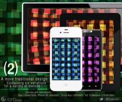 (2) iPhone, iPad, Droid Razr, and HD Wallpaper Pak by Snakesan