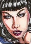 Bettie Page atc or aceo by artwoman3571