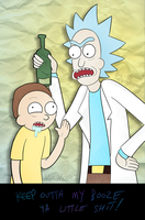 Rick and Morty - Snuck Some by MimiMarieT