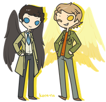 PC: Castiel and Gabriel by Koru-ru
