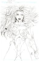 WitchBlade Cover Art 2 by daikkenaurora