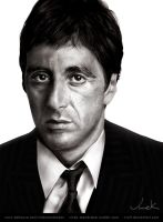 AL PACINO Digital Portrait Painting by VVOLT