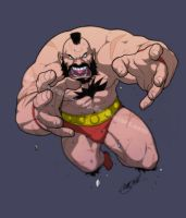 Zangief by SergioCuriel
