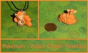 Pokemon Vulpix Charm Necklace by YellerCrakka
