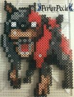 Resident Evil Zombie Dog by PerlerPixie