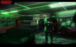 Neon City - Concept art Alex Drummond by alexdrummo