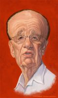 Rupert Murdoch by markdraws