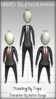 MMD Slenderman Model Pack DL by Trippy-Rabbit