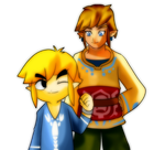 Link and Toon Link by CheloStracks