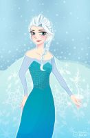 Frozen Queen Elsa by eight-bears