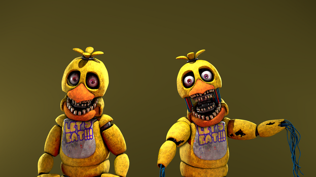 [FNAF SFM] WChica V2 and UNWChica by Trawert by half5life