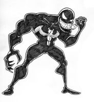 Venom sketch by TheNoirGuy