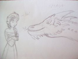 Elsa and Smaug by Punisher2006