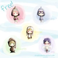 Free Chibi Swimming Team by kiriodream