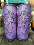 Purple Dragon Bracers by AThousandRasps