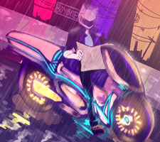 Lost In The City Of Neon Lights by Boybites