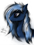 Rain Chaser - Zaphy1415926 OC Portrait Colored by AncientOwl