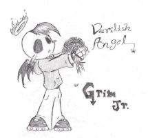 Grim Jr.: Devilish Angel by Kitty-grim-Reaper
