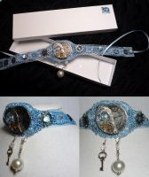 AW- Cheshire Collar in Blue by sadwonderland