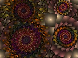 spirals of lights264 by evilpj