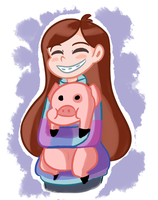 his name is waddles by FrigginGodess