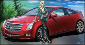 Tsunade and her Cadillac CTS Coup by JuPMod