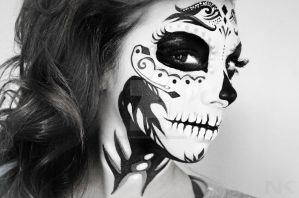 Skull Makeup face paint by NatashaKudashkina