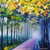 Violet fog oil painting by Leonid Afremov by Leonidafremov