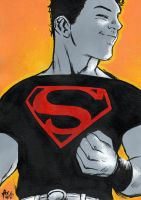 Superboy - Oil Paint by Meneguitte