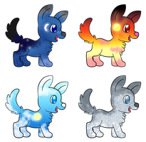 Adoptable Puppies (1/4 Open) by ForeverFluffyAdopts