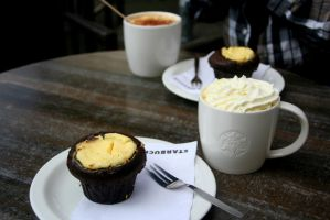 Coffee and cheesecake muffin by Sela01